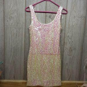 AS U WISH Sequined Mini Dress